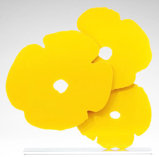 Yellow Poppies Sculpture  2017 24 in Sculpture - Donald Sultan