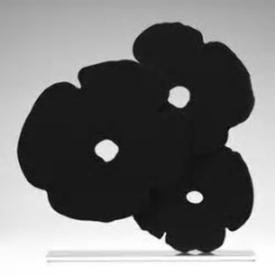 Black Poppies Sculpture 2017 24 in  Sculpture by Donald Sultan