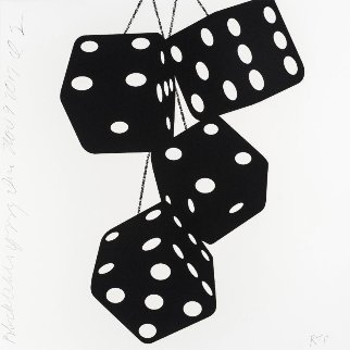 Fuzzy Dice Suite of 4 2017 Limited Edition Print by Donald Sultan