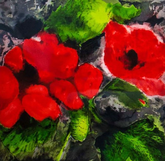 Flowers 1989 Limited Edition Print by Donald Sultan