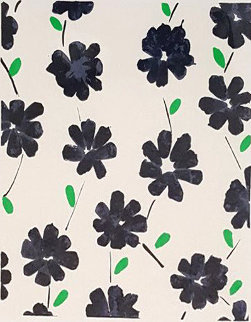 Wallflowers (Dark Purple With Green Flowers) 2008 Limited Edition Print by Donald Sultan