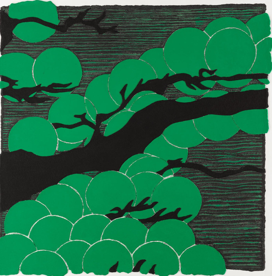 Japanese Pines Mixografia 2008 Limited Edition Print by Donald Sultan