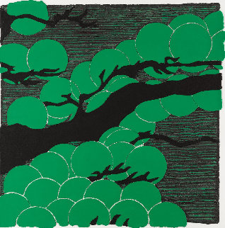 Japanese Pines Mixografia 2008 38x38 Limited Edition Print by Donald Sultan
