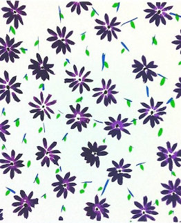 Wallflowers (Purple) 2009 Limited Edition Print by Donald Sultan