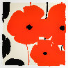 Four Poppies II Suite of 4 2020 Limited Edition Print by Donald Sultan - 2