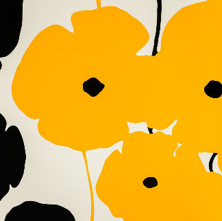 Four Poppies II Suite of 4 2020 Limited Edition Print by Donald Sultan