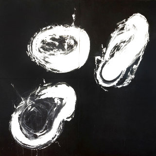 Smoke Rings October 2, 1998 96x96 Super Huge Original Painting - Donald Sultan