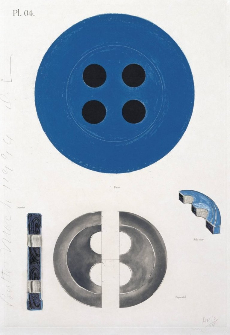 Button March 1, 1996 Huge 37x50 Limited Edition Print by Donald Sultan