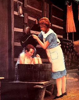 Ya Gotta Take a Bath Limited Edition Print by Charles Summey