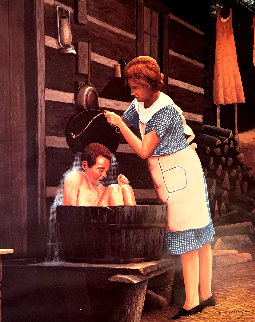 Ya Gotta Take a Bath Limited Edition Print - Charles Summey