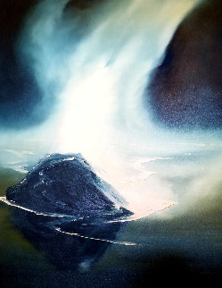 Misty Beach 1974 48x36 Original Painting by George Sumner