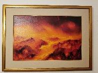 Lava Flow 1980 23x35 Original Painting by George Sumner - 1