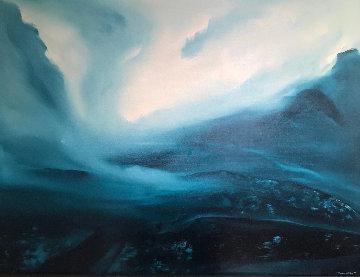 Untitled Painting 1978 37x49 Huge Original Painting - George Sumner