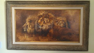 African Lords 28x48 Original Painting - Gary Swanson