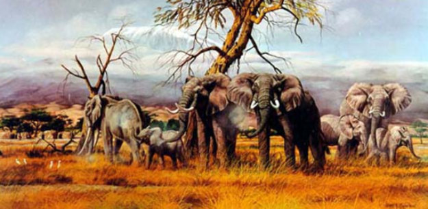 Monarchs of the Kenyan Plains Limited Edition Print by Gary Swanson