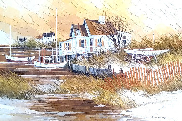 Untitled Painting 1972 33x45  - Albert Swayhoover