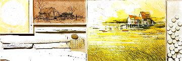 Untitled Landscape 1968 24x54 Original Painting - Albert Swayhoover
