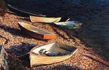 Sunlit Cove 40x60 Original Painting - Tom Swimm