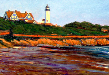 East Coast Light 2018 12x48 Original Painting - Tom Swimm