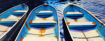 Sunday Morning 2017 16x40 Original Painting by Tom Swimm