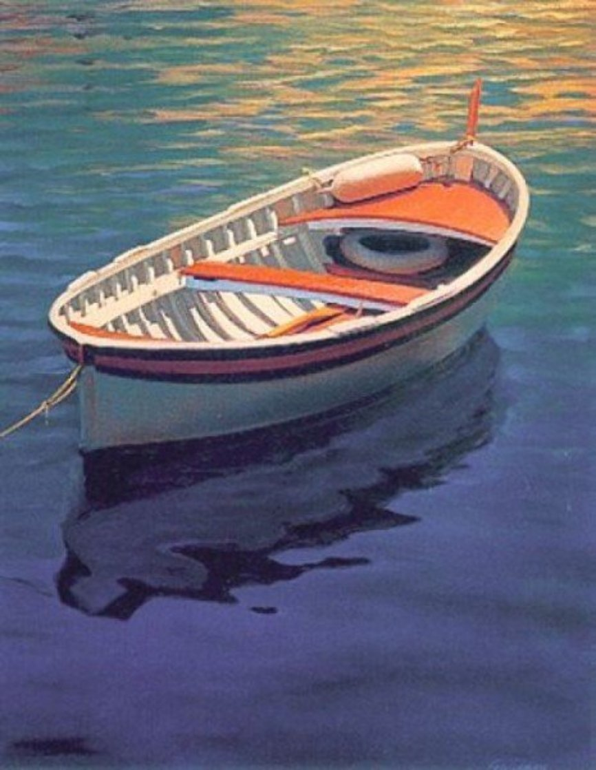 Harbor Rainbow 1999 Huge Limited Edition Print by Tom Swimm