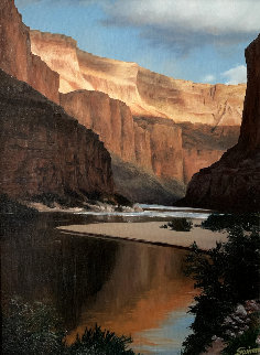 Grand Canyon 1980 23x29 Original Painting - Tom Swimm