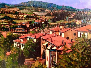 Tuscany Splendor 2004 23x27 Original Painting - Tom Swimm