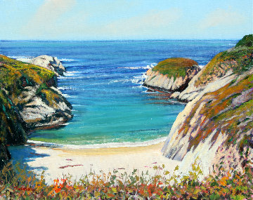 Above China Cove 2012 24x30 Original Painting - Tom Swimm