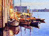 Canal Twilight 2011 30x40 Original Painting by Tom Swimm - 0