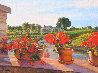 Junes Geraniums 2014 18x24 Original Painting by Tom Swimm - 0