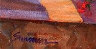Junes Geraniums 2014 18x24 Original Painting by Tom Swimm - 1
