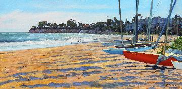 Santa Barbara Point 2018 24x48 Original Painting - Tom Swimm