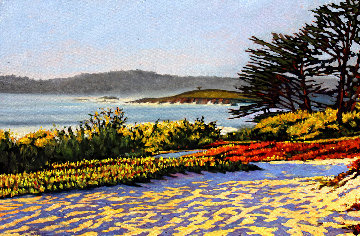 Carmel Memories 2020 33x45 Original Painting - Tom Swimm
