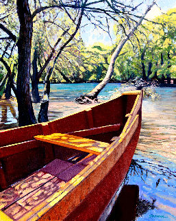 On the Bayou 2019 30x24 Original Painting - Tom Swimm