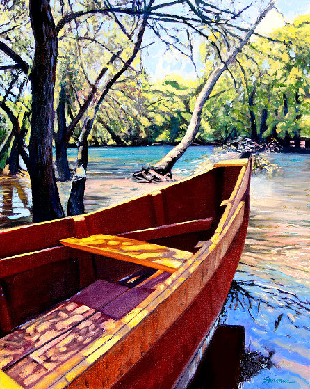 On the Bayou 2019 30x24 Original Painting by Tom Swimm