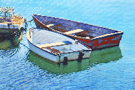 Tranquil Harbor 2020 24x36 Original Painting by Tom Swimm - 1