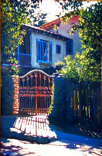 Dream Villa 1996 40x30 Original Painting - Tom Swimm