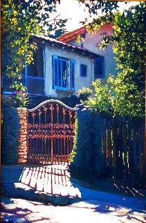 Dream Villa 1996 40x30 Original Painting - Tom Swimm