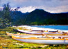 Hanalei Afternoon 1995 30x39 Original Painting by Tom Swimm - 0