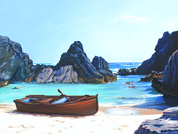 Guardians of the Cove 2007 40x50 Huge La Jolla Original Painting - Tom Swimm