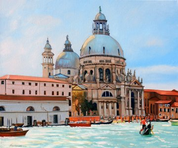 Venice in the Sun 2014 20x24 Original Painting by Tom Swimm