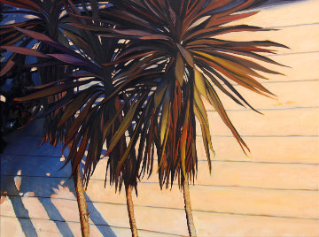 Island Shadows 2016 30x40 Original Painting - Tom Swimm