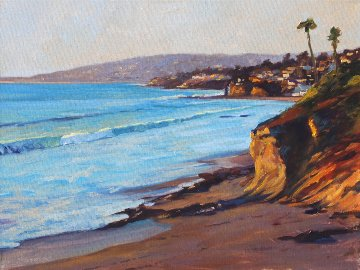 Laguna Coast 2016 18x24 Original Painting - Tom Swimm