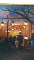Night At the Bistro 2008 22x26 Original Painting by Tom Swimm - 1