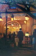 Night At the Bistro 2008 22x26 Original Painting by Tom Swimm - 0
