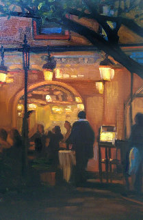 Night At the Bistro 2008 22x26 Original Painting by Tom Swimm