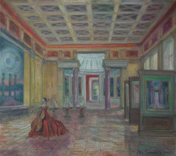 Hall of Precious Stone, New Hermitage 2007 32x36 Original Painting by Edward Tabachnik