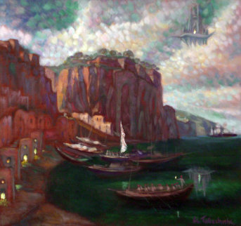 Italian Shore 1995 Original Painting - Edward Tabachnik