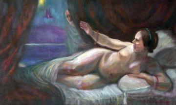 Danae 2010 22x36 Original Painting by Edward Tabachnik