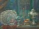 Russian Silver in St. Mark Square, Venice 2004 32x28 Original Painting by Edward Tabachnik - 3
